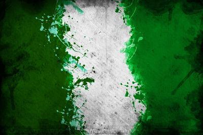 Nigerian Flag-igor stevanovic-Art Print