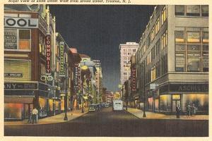 Night, Broad Street, Trenton