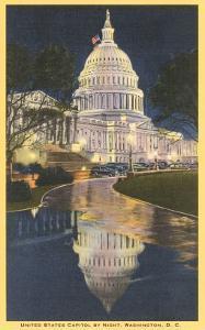 Night, Capitol, Washington D.C.