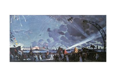 Night Celebration on the Neva, 1923-Boris Mikhajlovich Kustodiev-Giclee Print