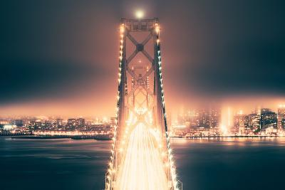 Night Crossing, Bay Bridge, Oakland to San Francisco, California-Vincent James-Photographic Print