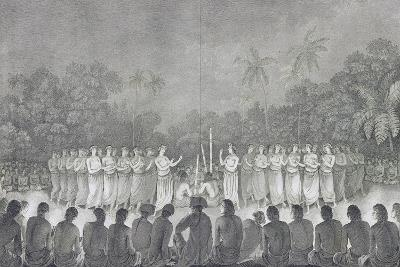 Night Dance Performed by Women in Honor of James Cook--Giclee Print