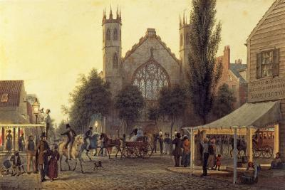 Night-Fall, St. Thomas's Church, New York, C.1835-George Harvey-Giclee Print