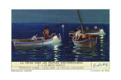 Night Fishing--Giclee Print