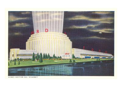 Night, Ford Rotunda, Dearborn, Michigan--Art Print
