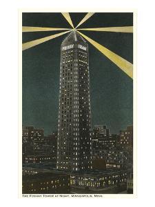 Night, Foshay Tower, Minneapolis, Minnesota