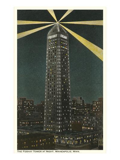 Night, Foshay Tower, Minneapolis, Minnesota--Art Print