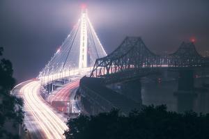 Night Glow and Oakland Bay Bridge