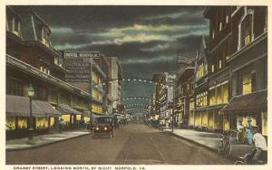 Night, Granby Street, Norfolk, Virginia