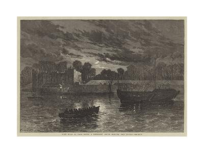 Night Guard at Upnor Castle, a Government Powder Magazine, Near Chatham--Giclee Print