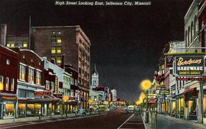 Night, High Street, Jefferson City, Missouri