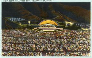 Night, Hollywood Bowl, Los Angeles, California
