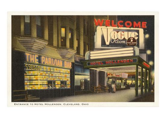 Night, Hotel Hollenden, Cleveland, Ohio--Art Print