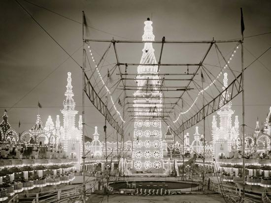 Night in Luna Park, Coney Island, N.Y.--Photo
