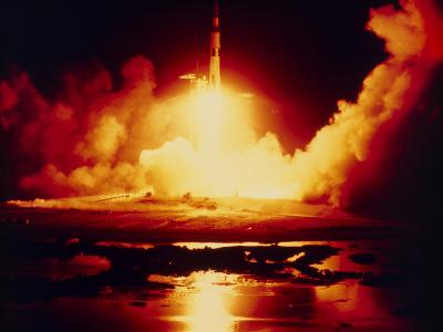 Night Launch of Apollo 17--Photographic Print