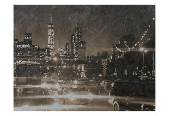 Night Life @ Brooklyn Brdg Park-Sheldon Lewis-Art Print