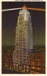 Night, Lincoln Tower, Ft. Wayne, Indiana