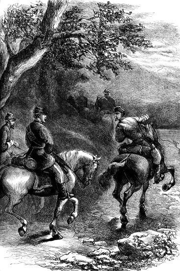 Night March on Harper's Ferry, Virginia, C1861--Giclee Print