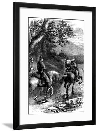 Night March on Harper's Ferry, Virginia, C1861--Framed Giclee Print
