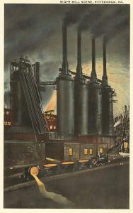 Night Mill Scene, Pittsburgh, Pennsylvania