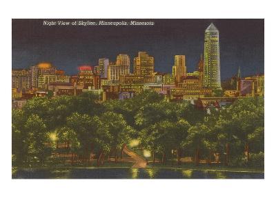 Night, Minneapolis, Minnesota--Art Print