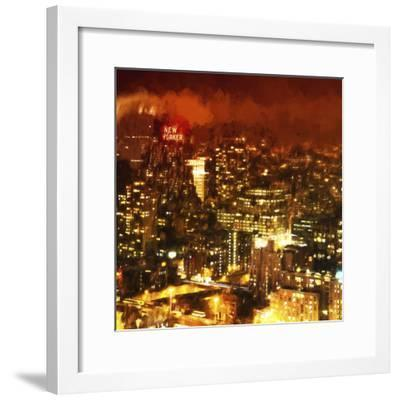 Night Mood of Midtown New York-Philippe Hugonnard-Framed Giclee Print