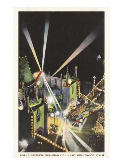Night, Movie Premiere, Grauman's, Hollywood, California--Art Print