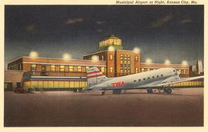 Night, Municipal Airport, Kansas City, Missouri