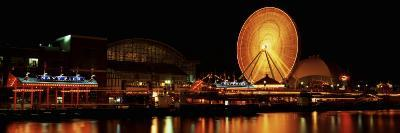 Night Navy Pier Chicago Il, USA--Photographic Print