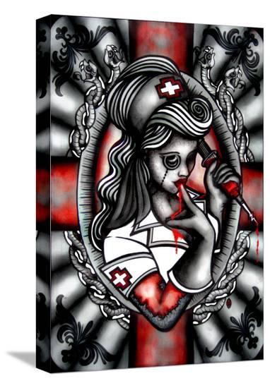 Night Nurse- Leighderhosen-Stretched Canvas Print