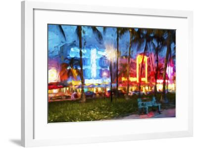 Night Ocean Drive II - In the Style of Oil Painting-Philippe Hugonnard-Framed Giclee Print