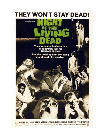 """""""Night of the Living Dead"""" Directed by George A. Romero--Giclee Print"""