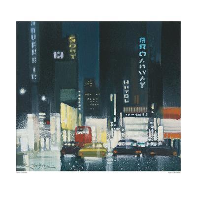 Night on Broadway-Xavier Carbonell-Art Print