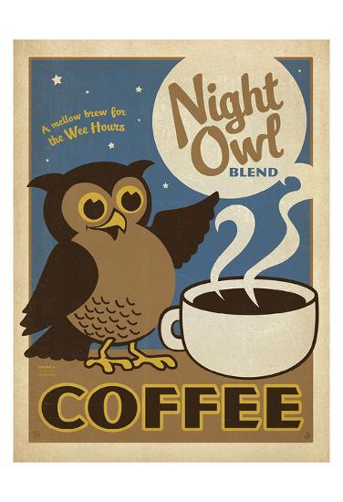 Night Owl Blend Coffee-Anderson Design Group-Art Print