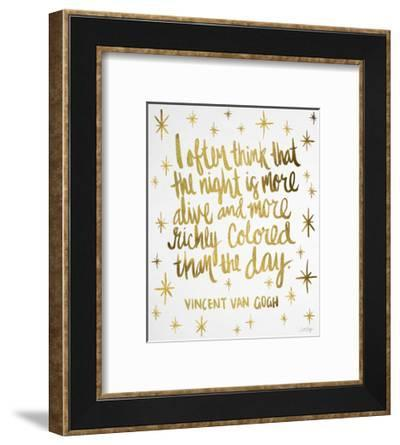 Night Owl in Gold-Cat Coquillette-Framed Giclee Print