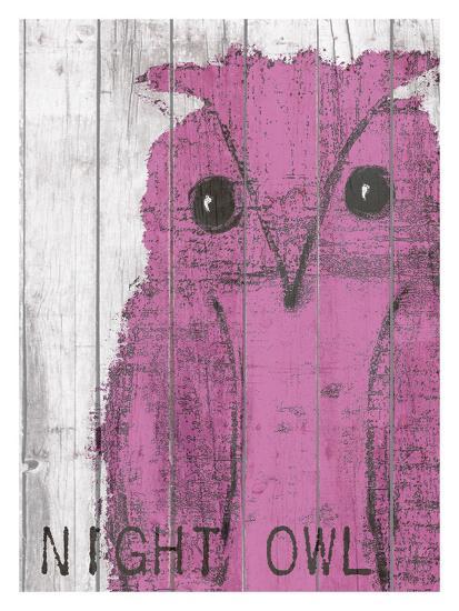 Night Owl Pink-Lisa Weedn-Giclee Print