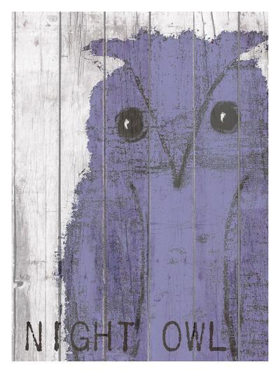 Night Owl Purple-Lisa Weedn-Giclee Print