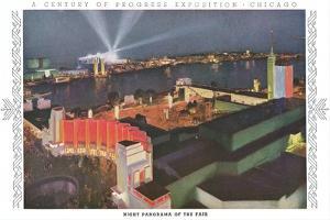 Night Panorama of Chicago World Fair