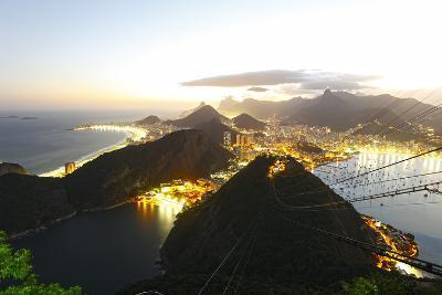 Night Panoramic View Of Rio De Janeiro-luiz rocha-Photographic Print