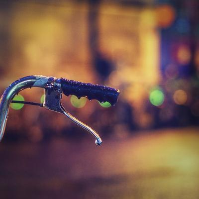 Night Rain and Bike, Paris-Alexandre Arnaoudov-Photographic Print