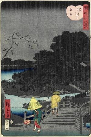 Night Rain at Makura Bridge, November 1861--Giclee Print