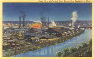 Night, Repubic Steel Corporation, Youngstown, Ohio