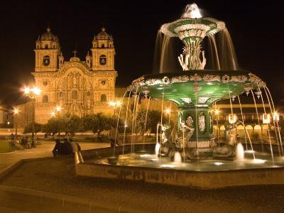Night Shot of Plaza De Armas, Cusco, Peru-Diane Johnson-Photographic Print
