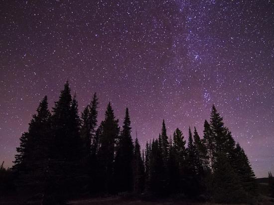 Night Sky over Bighorn Mountains-Mike Cavaroc-Photographic Print