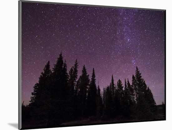 Night Sky over Bighorn Mountains-Mike Cavaroc-Mounted Photographic Print