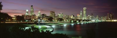Night Skyline Chicago Il, USA--Photographic Print