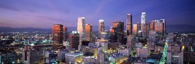 Night, Skyline, Cityscape, Los Angeles, California, USA--Photographic Print
