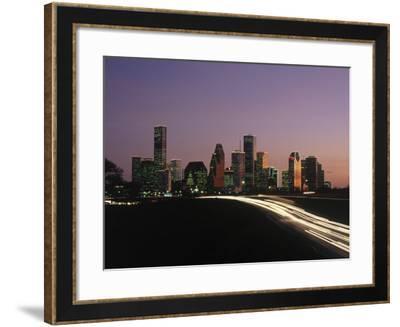 Night Skyline, Houston, Texas-Kevin Leigh-Framed Photographic Print