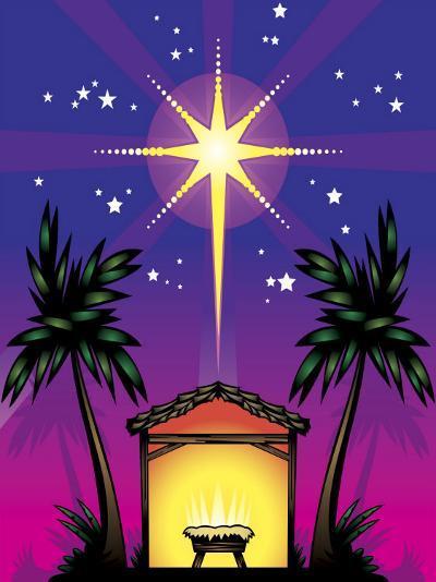 Night Stars over Birthplace of Jesus Christ--Photo