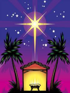 Night Stars over Birthplace of Jesus Christ